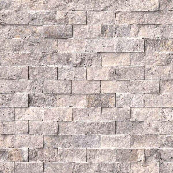 1 x 2 Travertine Splitface Tile in Gray by MSI