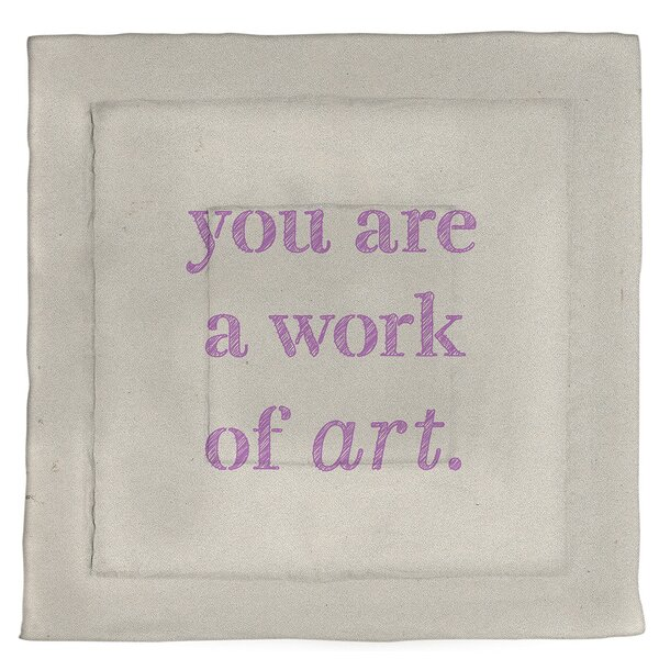 Work Of Art Quote Single Reversible Comforter