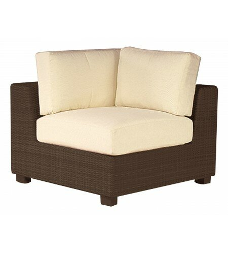 Montecito Corner Sectional Unit Patio Chair with Cushions by Woodard