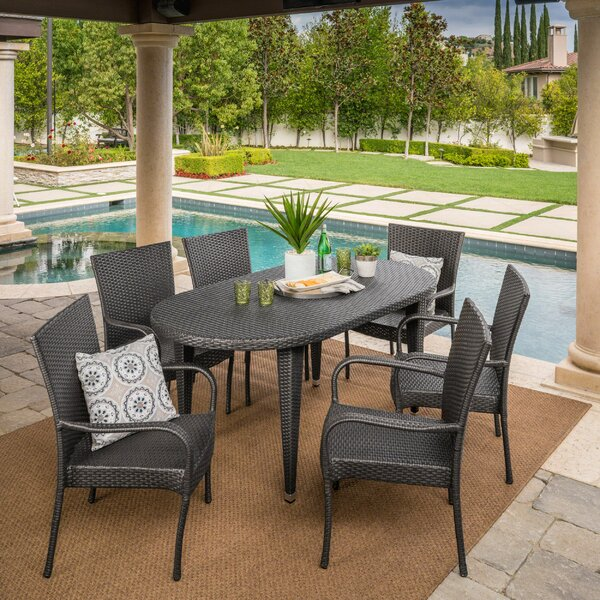 Renea 7 Piece Outdoor Dining Set by Ivy Bronx