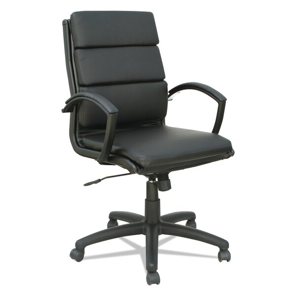 Virginia Mid-Back Genuine Leather Office Chair by Latitude Run