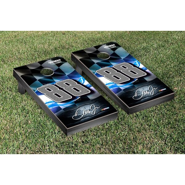NCAA Nascar Racing Flag Version Cornhole Game Set by Victory Tailgate
