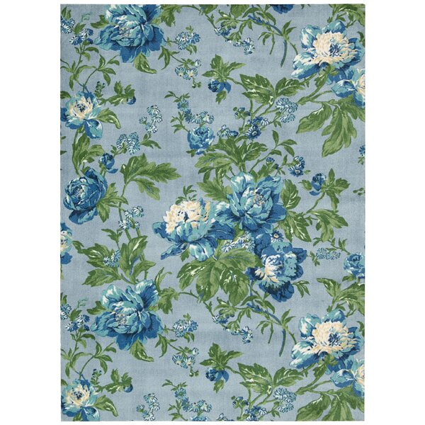 rtisinal Delight Forever Yours Blue/Green Area Rug by Waverly