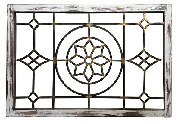 Cathedral Frame Floral Wall Décor by Fleur De Lis Living
