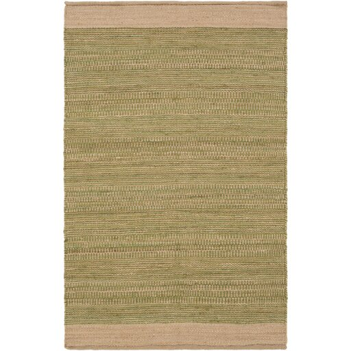 Boughner Hand-Woven Grass Green/Khaki Area Rug by Three Posts