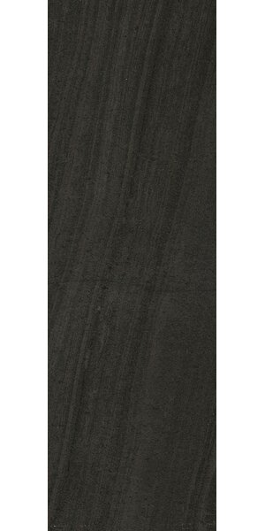 Montpellier 7.5 x 24 Ceramic Field Tile in Nero by Interceramic