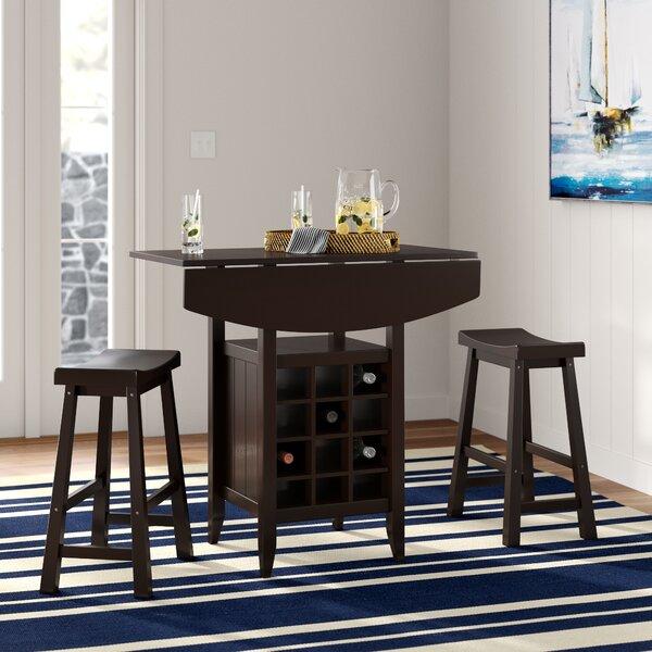 Elida 3 Piece Adjustable Pub Table Set by Latitude Run