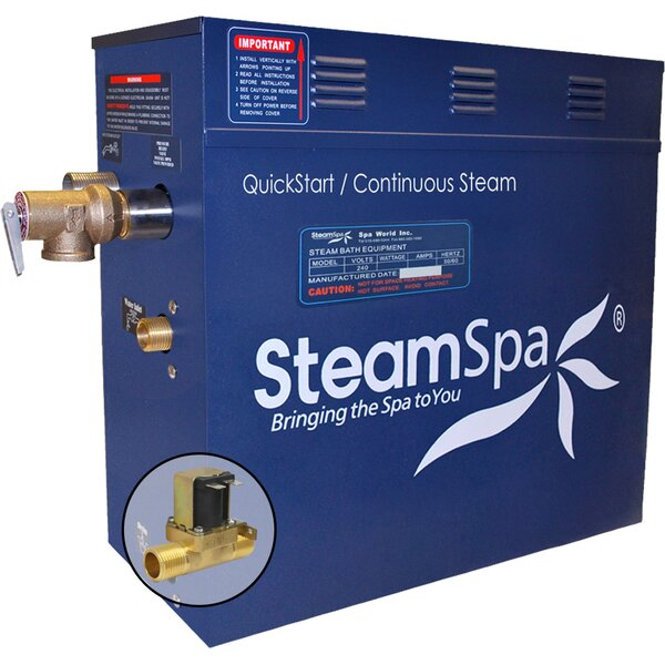6 kW QuickStart Steam Bath Generator with Built-in Auto Drain by Steam Spa