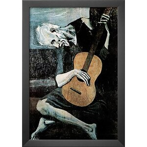 'Old Guitarist' by Pablo Picasso Framed Painting Print by Buy Art For Less