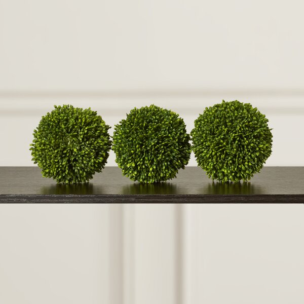 Faux Ball Decor Round Topiary (Set of 3) by Charlton Home