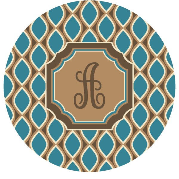 Hansley Monogrammed Blue Area Rug by Latitude Run