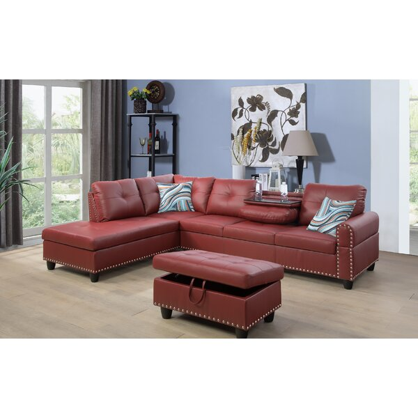 Sandefur Sectional with Ottoman by Red Barrel Studio