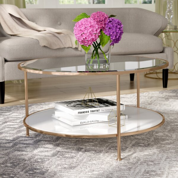 Review Jamiya 3 Legs Coffee Table With Storage