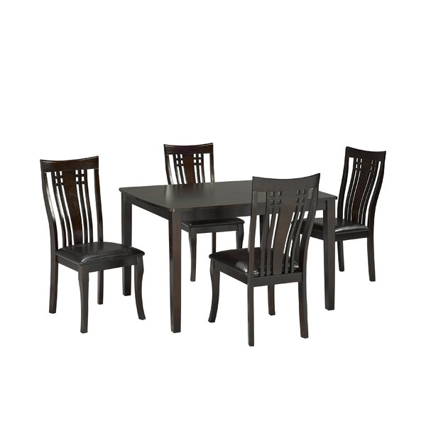 Hannum 5 Piece Dining Set by Alcott Hill
