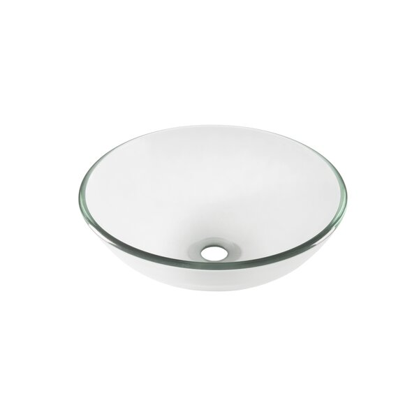 Bonificare Glass Circular Vessel Bathroom Sink by Novatto