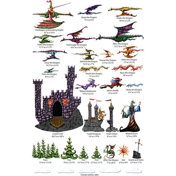 Flight of Dragons Wall Decal Kit by My Wonderful Walls