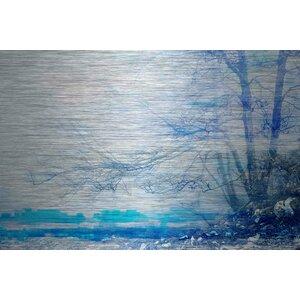 'Peaceful' by Parvez Taj Painting Print on Brushed Aluminum by Parvez Taj