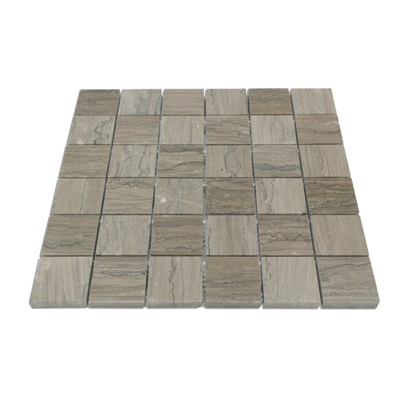 Jackson Brick Joint 2 x 2 Marble Mosaic Tile in Taupe by Splashback Tile