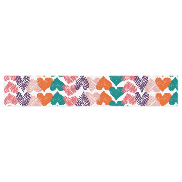 Louise Machado Hearts Table Runner by East Urban Home