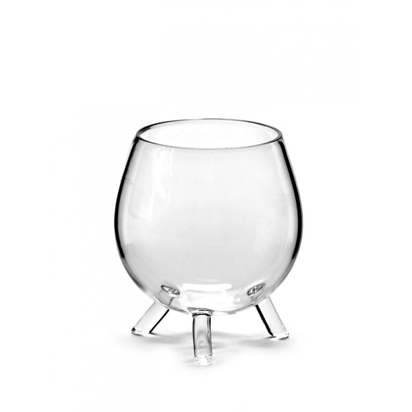 Titania Water Tripod Glass Liqueur Glass by Wrought Studio