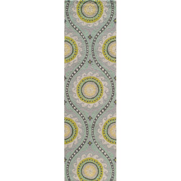 Yash Hand-Woven Gray Area Rug by Bungalow Rose