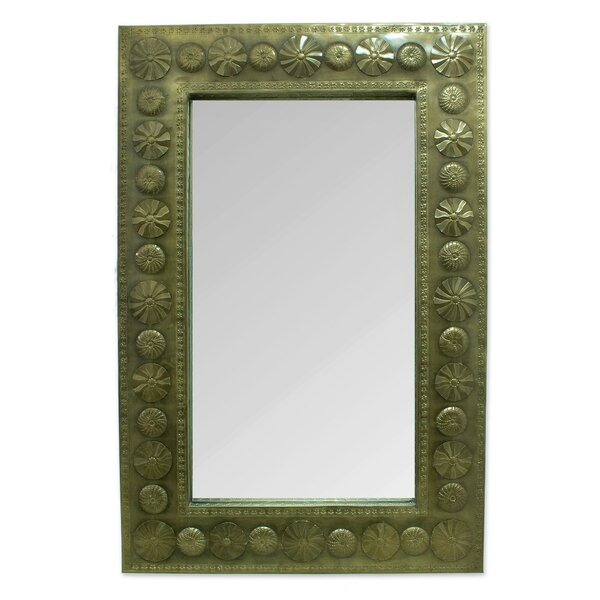Large Artisan Crafted Hammered Tin Wall Mirror by Novica
