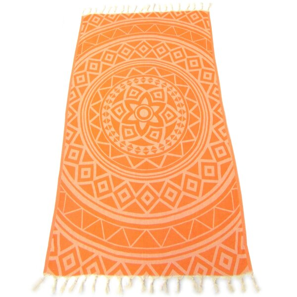 Jacquard Pestemal Turkish Cotton Beach Towel by Red Pomegranate