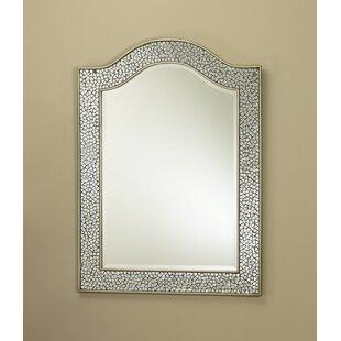 AA Importing Mosaic Glass Bordered Beveled Wall Mirror