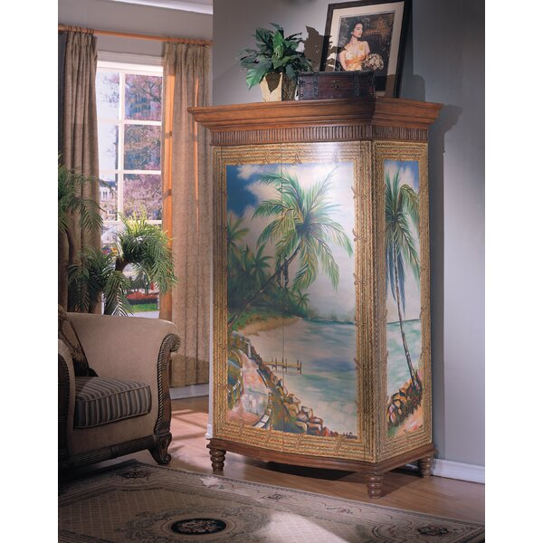 Outdoor Furniture Spigner Hand-Painted TV-Armoire