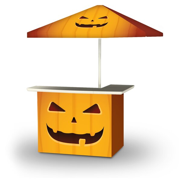 Winterview Halloween Jack O Lantern 2-Piece Home Bar Set by East Urban Home