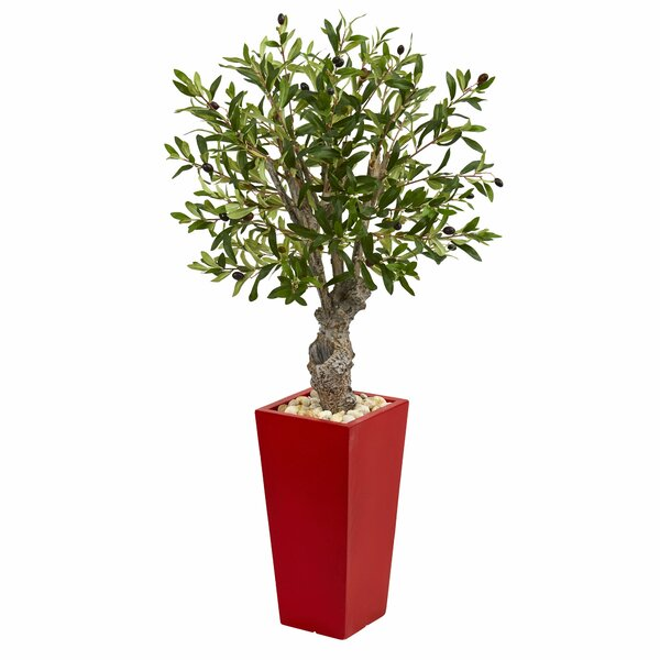 Artificial Olive Tree in Planter by Latitude Run