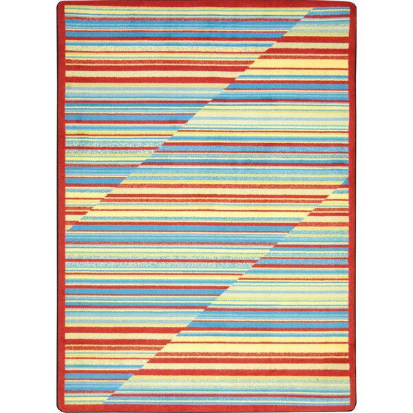 Red/Blue Area Rug by The Conestoga Trading Co.