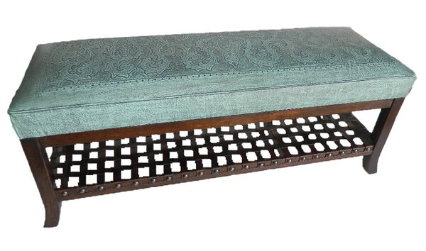 Navarette Leather Bench by Astoria Grand