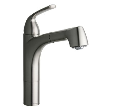 Gourmet One Handle Deck Mount Pull Out Kitchen Faucet by Elkay