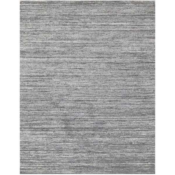 Holliman Hand-Woven Wool Silver Area Rug by Williston Forge