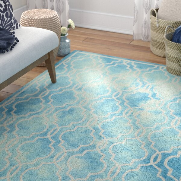 Gainsborough Hand-Tufted Turquoise/Ivory Area Rug by Bungalow Rose