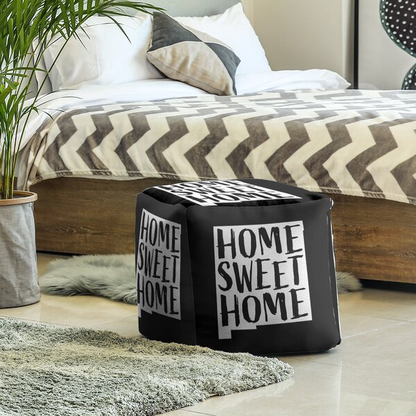 Home Sweet New Mexico Cube Ottoman By East Urban Home