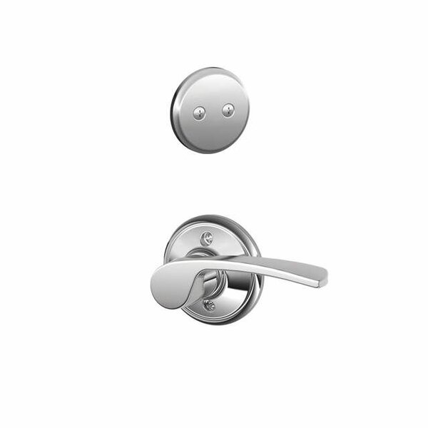 Interior Non-Turning Merano Lever and Interior Inactive Deadbolt Thumbturn by Schlage