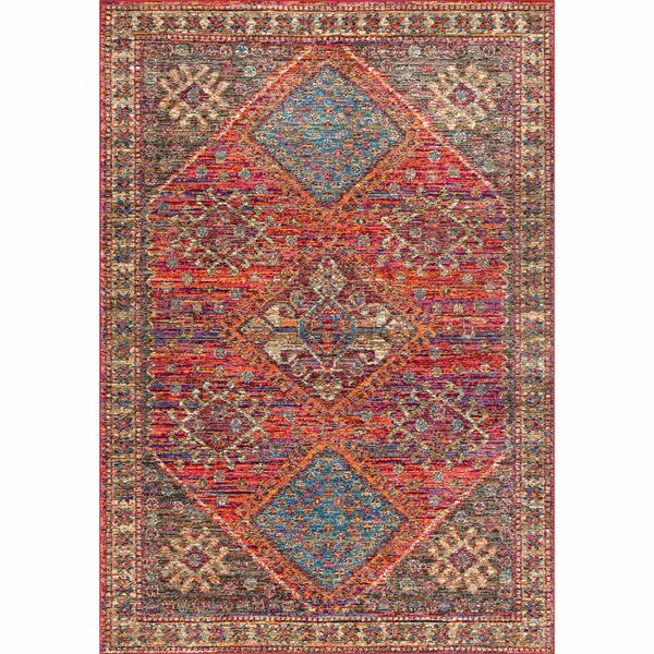Dan Red Area Rug by Bungalow Rose