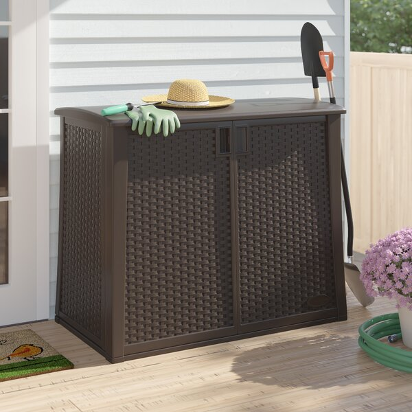 Java Outdoor Storage 97 Gallon Resin Cabinet by Suncast Suncast