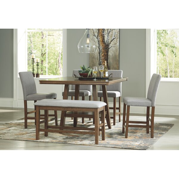 Jasinski 6 Piece Counter Height Dining Set By Gracie Oaks
