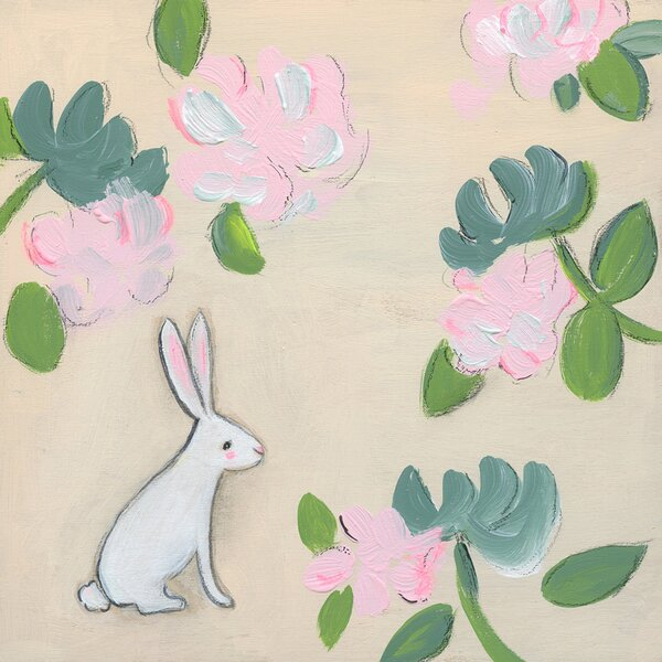 Bunny Floral by Creative Thursday by Marisa Canvas Art by Oopsy Daisy