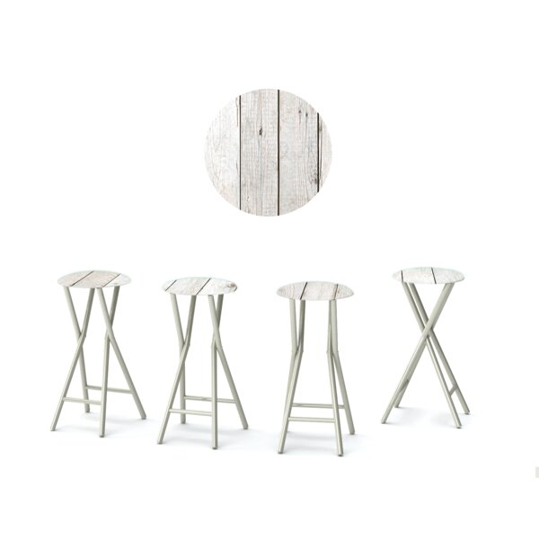 Barn 30'' Patio Bar Stool with Cushion (Set of 4) by Best of Times