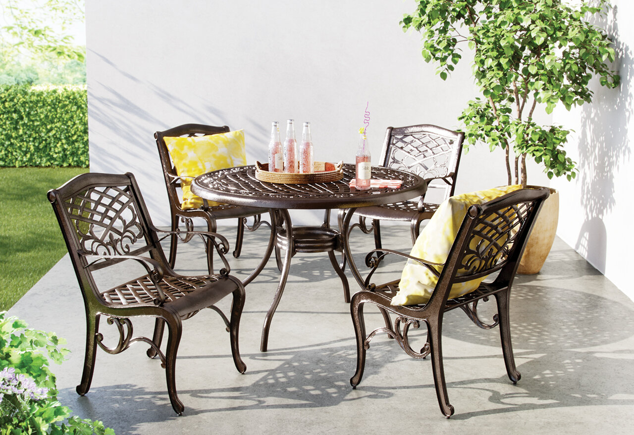 metal patio dining set