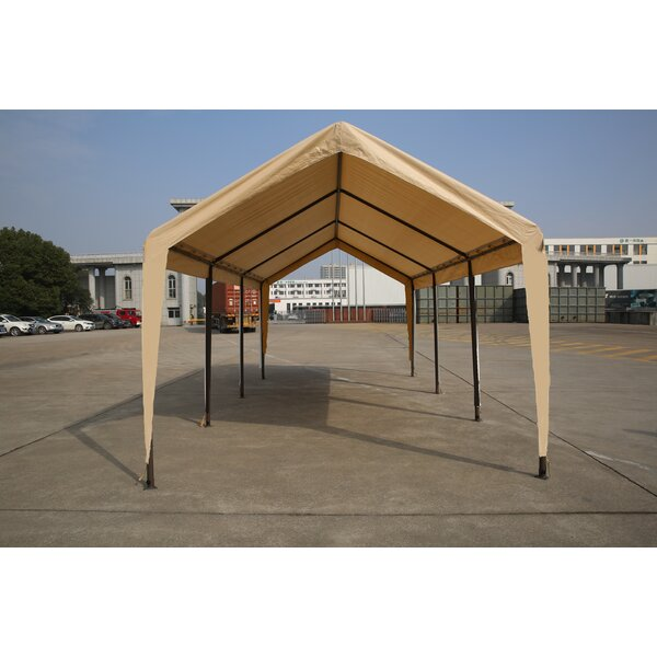 Carport 10 Ft. W x 20 Ft. D Steel Canopy by Impact Shelter