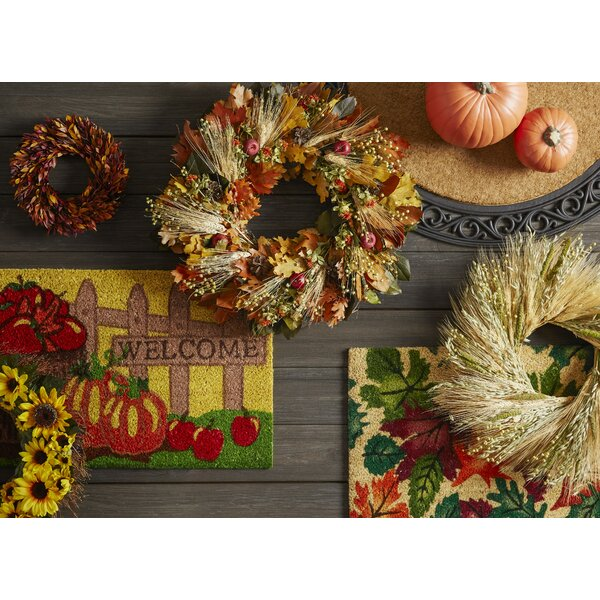 Harvest Pumpkin Fence Welcome Doormat by Geo Crafts, Inc