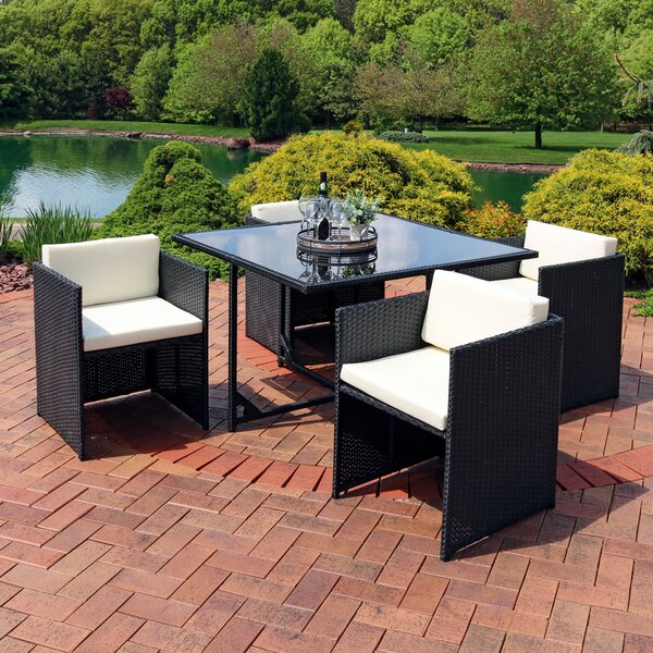 Odea Outdoor 5 Piece Dining Set with Cushions by Orren Ellis