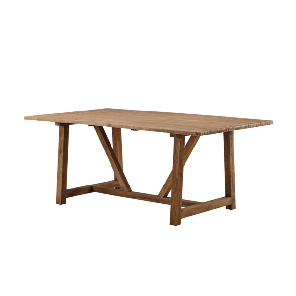 Acuna Teak Solid Wood Dining Table by Loon Peak