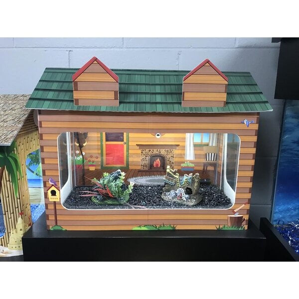 10 Gallon Log Cabin Aquarium Tank Cover By Rj Enterprises.