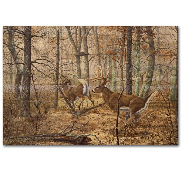 Autumn Pursuit Painting Print Plaque by WGI-GALLERY